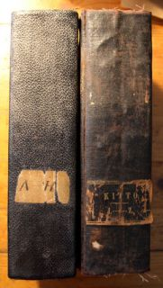 Cyclopedia of Biblical Literature John Kitto 1854 Two Volume Antique Book Set