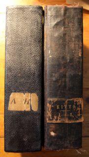 Cyclopedia of Biblical Literature John Kitto 1854 Two Volume Antique Book Set |
