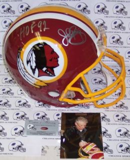 John Riggins Hand Signed Washington Redskins Full Size Pro Helmet HOF 92