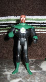 DC Justice League Unlimited John Stewart Green Lantern Action Figure Mattel Bald
