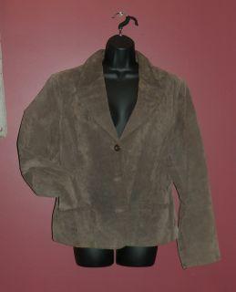 John Paul Richard Uniform Suede Leather Jacket Size XL Medium Brown