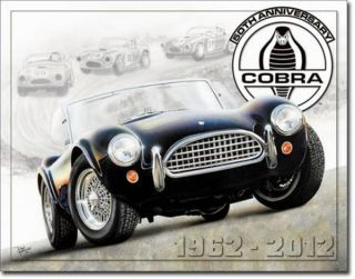 1962 2012 Ford Shelby Cobra Tin Sign 50th Anniversary