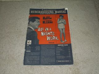 All in A Nights Work Original 74 Pressbook Dean Martin