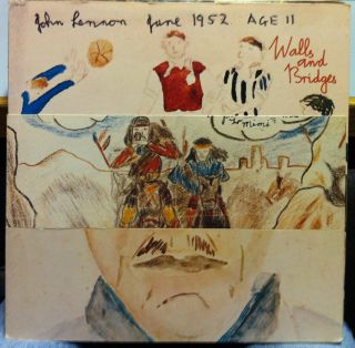 John Lennon Walls and Bridges LP VG SW 3416 1st Press Complete w Poster 1974