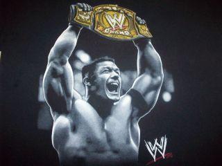 WWE Raw John Cena Holding Champion Belt T Shirt Boy's L 7 Black