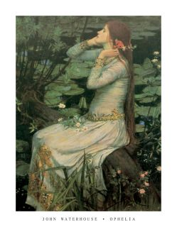 John William Waterhouse Ophelia Lonely Girl Art Poster Print Limited RARE