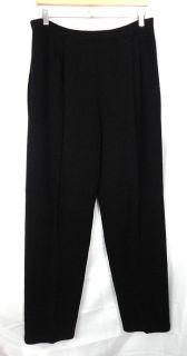 St John Collection Womens Black Santana Knit Pants Sz L