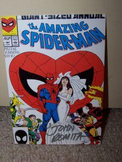 John Romita SR Spider Man Art Card Signed