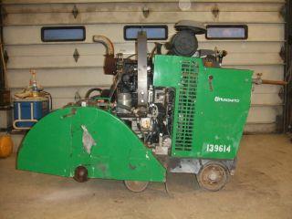 "2007 Husqvarna 6600 D 42"" Concrete Floor Saw 66 HP John Deere Turbo Diesel"