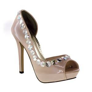 Galactica by Johnathan Kayne in Champagne Bridal Bridesmaid Prom Pageant Shoes