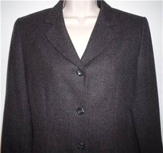 Pendleton Virgin Wool Charcoal Gray Lined Jacket Blazer Womens 6