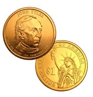 2009 D John Tyler B U Dollar Coin