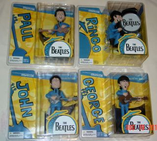 Beatles Cartoon Figures McFarlane Spawn John Paul George Ringo Set of 4 MIB