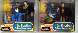 McFarlane 2004 Yellow Submarine Beatles John Paul George Figures