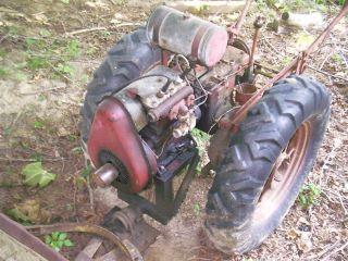 Antique Standard Twin Garden Tractor w Snowplow Mowing Machine Harrow