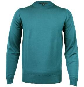 John Smedley Summit Mallard Green Mens Designer Merino Wool Jumper Pullover S