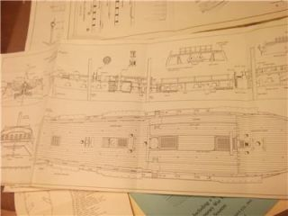 four pages of model ship plans ESSEX 32 GUN FRIGATE and booklet for ESSEX 1799
