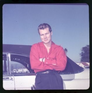 John Smith Laramie Star RARE Vintage Large Format Slide Transparency Classic Car
