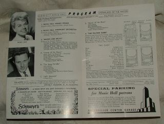 1957 Radio City Music Hall Program The Pajama Game Doris Day John Raitt