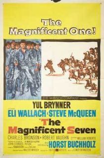 The Magnificent Seven 1960 Original U s One Sheet John Sturges Steve McQueen