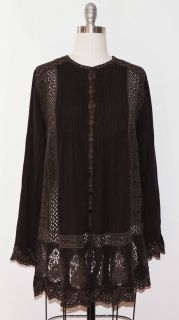 Johnny Was Brown Dominica Tunic S