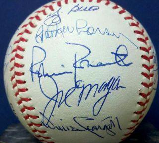 STAN MUSIAL YOGI BERRA JOHNNY BENCH AUTOGRAPH Baseball BALL HOF auto signed old