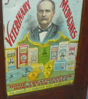Dr Daniels Veterinary Medicine Advertising Cabinet Country Store Display