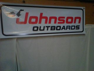 Johnson Sea Horse Outboards Banner Marina Boat Mechanic Shop Parts Motor Sign 7d