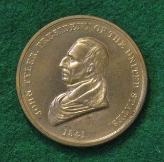 John Tyler President Peace and Friendship Medal Brass
