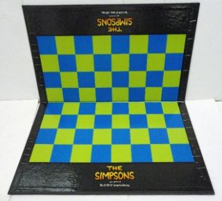 Collectible 1992 20th Century Fox Matt Groenings Simpsons 3 D Chess Board Game