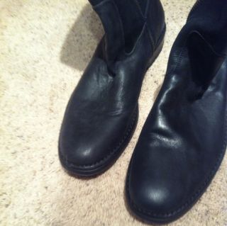 JOHN VARVATOS Mens Black Leather Boots Size 11