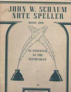John w Schaum Note Speller Book 1