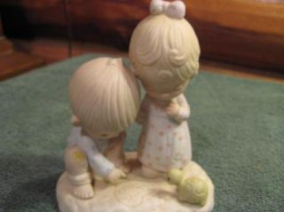 "Beautiful 1979 Precious Moments ""Thou Art Mine"" Figurine"