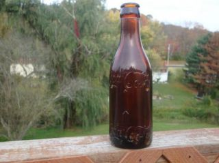 Super Rare Amber Coca Cola Bottle With Arrow Marked Knoxville Tennessee |
