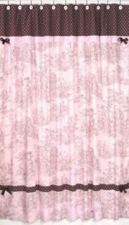 JoJo French Country Toile Pink Fabric Shower Curtain