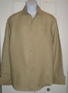 Ƹ̵̡Ӝ̵̨̄Ʒ Sean John Men Nice Light Brown Linen Shirt Sz L $78 00