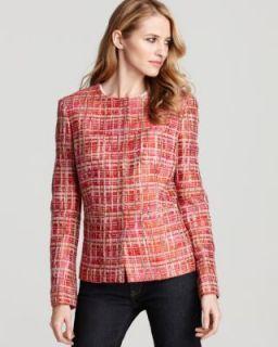 Jones New York NEW Perry Street Multi Color Jewel Neck Snap Front Blazer 14