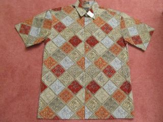 St Johns Bay Island Style Casual Dress Shirt Medium M