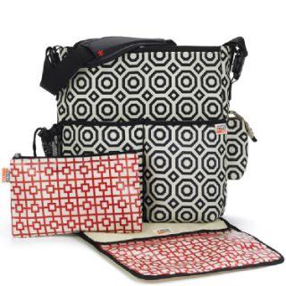 Jonathan Adler Skip Hop Duo Wave Diaper Bag Girl Multi color Modern Designer Bag
