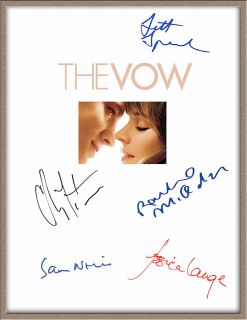 CHANNING TATUM RACHEL MCADAMS JESSICA LANGE SIGNED X5 THE VOW MOVIE SCRIPT RPT