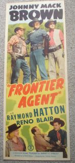 Johnny Mack Brown Frontier Agent 1948 Rolled Insert 14x36