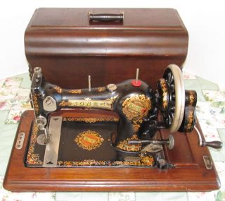 Antique Jones Hand Crank Sewing Machine Queen Alexandra