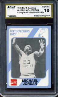 Michael Jordan North Carolina 17 MGS 10 Rookie Card