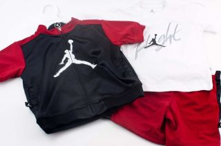 Nike Air JORDAN Track Outfit Shirt Jacket Shorts Baby Boy 24 months NWT Infant