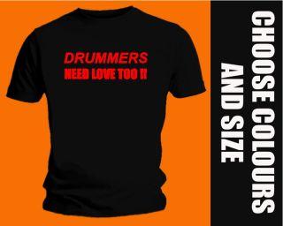 Drummer T Shirt Drum Joey Jordison Ahead Sticks Love