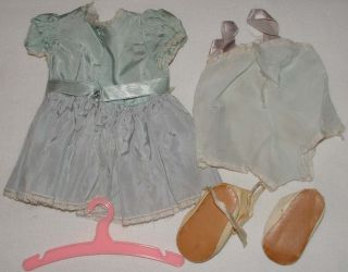 """1950s Terri Lee Original Tagged Outfit for 16"""" Doll Baby Blue Dress Outfit"""