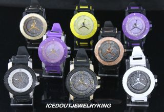 ICED OUT JORDAN AIR JUMPMAN LOGO SILICONE WATCH BRAND NEW