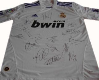 12011 2012 Team Signed Real Madrid Soccer Shirt Inc Ronaldo Kaka COA
