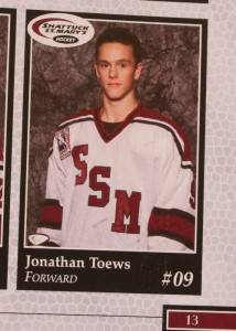 2004 Chicago Blackhawks Jonathan Toews St Mary's Program College