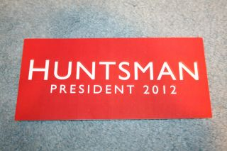 Jon Huntsman Official 2012 President Campaign Bumper Sticker